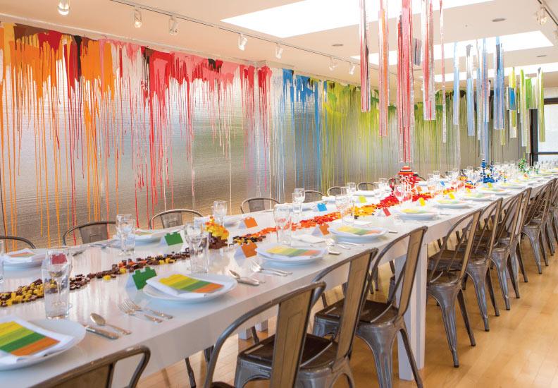 The Rinehart Dining Room - the dinner took place on July 25, 2014 in honor of architect David Rinehart.