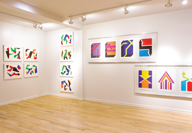 Curated and designed exhibition - Betty Gold: Color Blocking. May 2 - July 6, 2014. Palos Verdes Art Center.