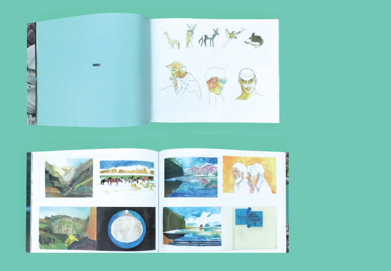 Catalog design - Floating Man: The Sketchbook Drawings of David Rinehart. July 25 - September 14, 2014. Palos Verdes Art Center. 70 pages.