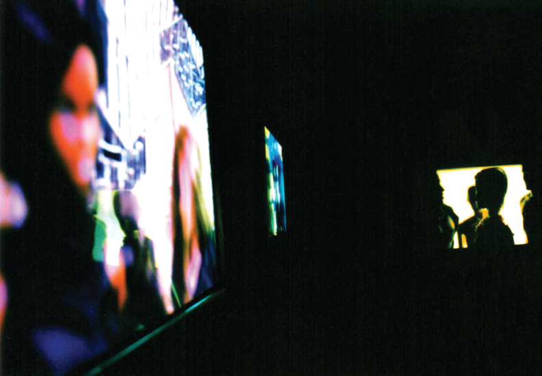 BOD. Inside the Black Maze where the viewer can peek through portals at tiny sets, view duratran images (shown) and display cases telling the story of the club with souvenirs. A mixture of alochol and amyl nitrate is release into the air every 2 hours.