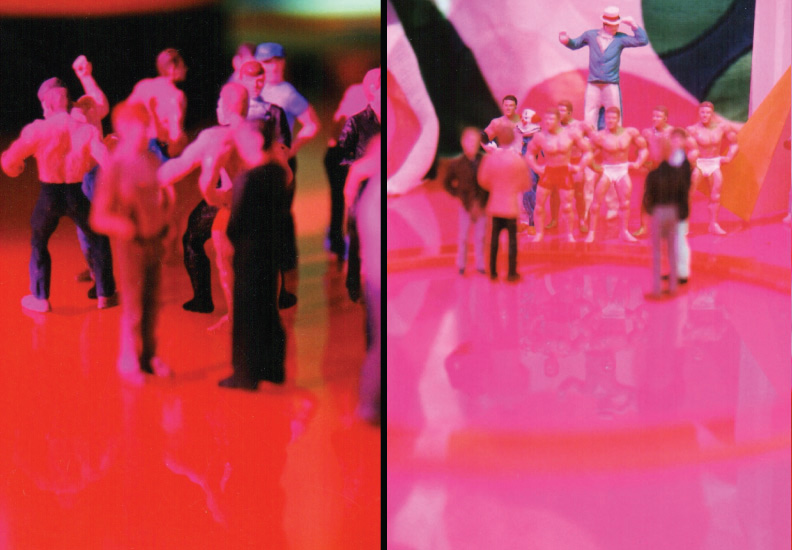 "BOD (Broadway on Duane) September 6 - October 18, 2003. Rocket Projects, Miami. (right) ""Opening Night #22"", 2002, C-print. (left) ""Circus - Circus #9"", 2003, C-print."