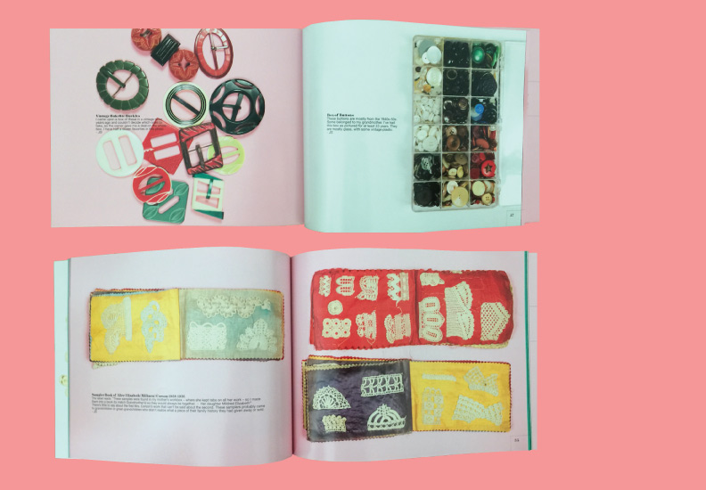 Catalog Design - Acquired Objects: textiles, tools and notions. The Judith Solomon Collection. October 10 - January 4, 2015. 70 pages.