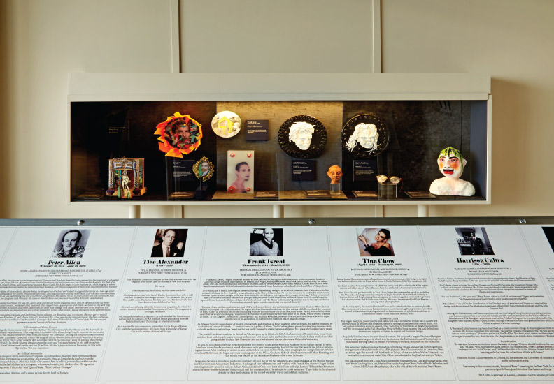 Heroes Portrait Gallery - designed for DIFFA 2015 Dining by Design. The installation, comprised of  portraits created by Doug Meyer, payed homage to fallen artists and designers from the industry who were among the first victims of AIDS.
