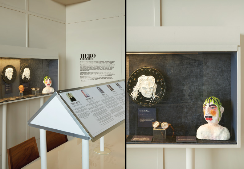 Heroes Portrait Gallery - designed for DIFFA 2015 Dining by Design. Sponsors: Flexform New York and Luxe Interiors + Design. Some of the heroes include: Angelo Donghia, Jay Spectre, Alan Buchsbaum, Franklin Israel, Tina Chow, Leigh Bowery, John Duka.