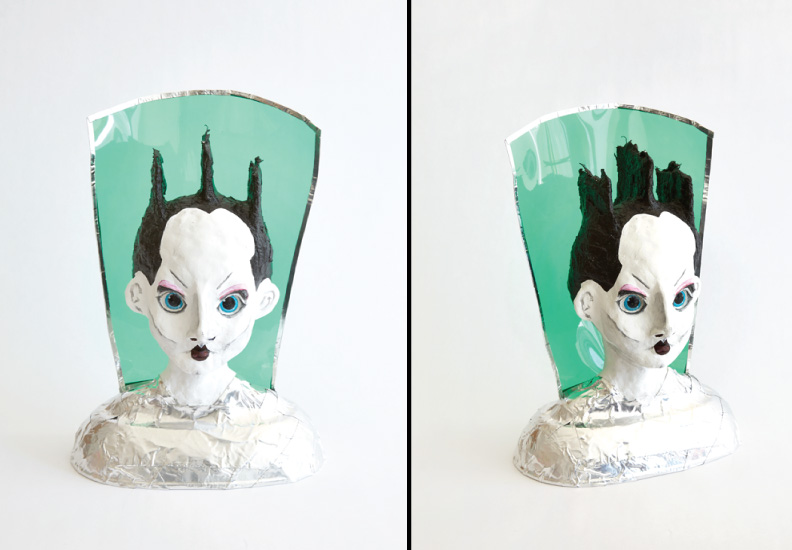 "Hero Portraits created for Dining by Design DIFFA 2015. Klaus Nomi (January 24, 1944 - August 6, 1983). ""Visitor"", 2015. Metal, clay, foam, paper mache, plastic, paint."